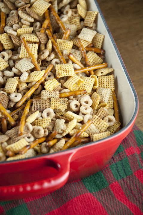 This Chex Party Mix recipe will be the perfect snack for any occasion, from football parties or summer picnics, to Christmas or New Year's Day.  This is also called Nuts and Bolts and makes a huge amount!