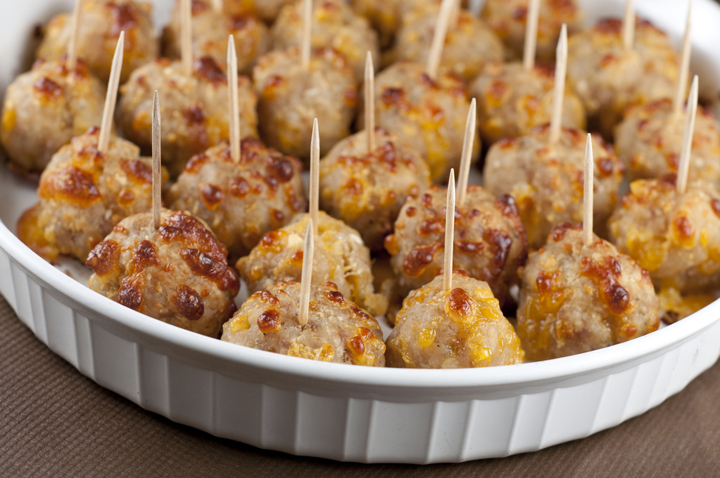 Enjoyable Sausage Cheese Balls Wishes And Dishes Easy Diy Christmas Decorations Tissureus