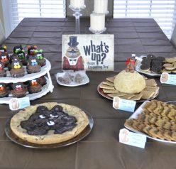 Groundhog Day Party food display.