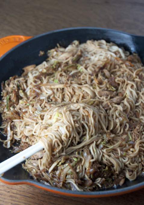 Panda Express copy cat recipe for chicken chow mein noodles for easy Chinese food at home.