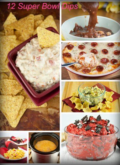 My top 12 favorite super bowl dip recipe ideas. Wonderful game day food!