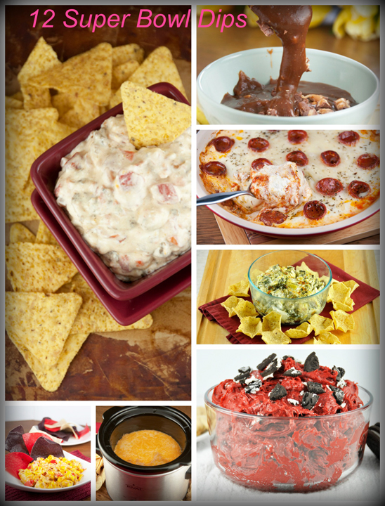 My top 12 favorite super bowl dip recipe ideas. Wonderful game day food!