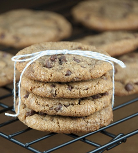 Delicious Browned Butter Chocolate Chip Cookies made with browned butter, mostly brown sugar, and mini semi-sweet chocolate chips. This is my favorite chocolate chip cookie to make.