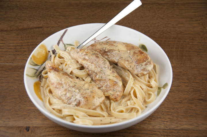 Chicken Lazone is a New Orleans main dish that is creamy, delicious and served over pasta or mashed potatoes.