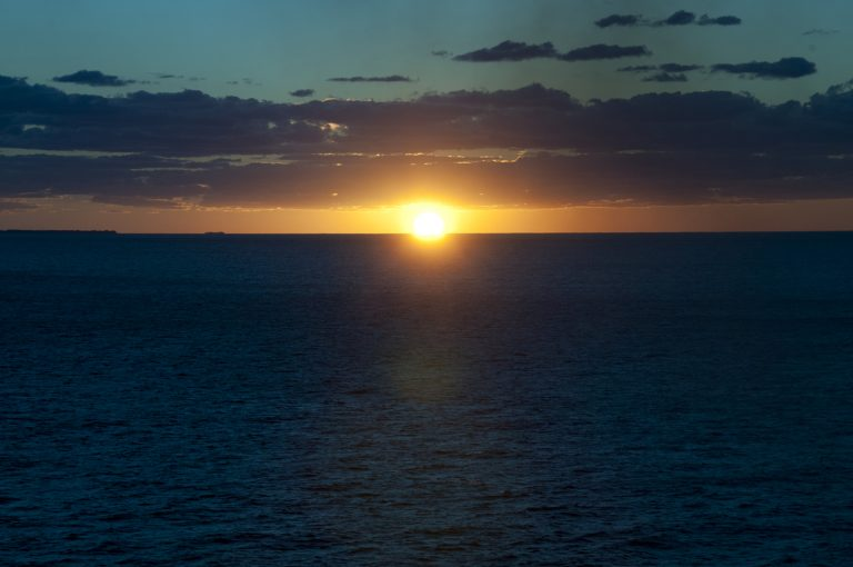 Beautiful sunset on Oasis of the Seas, Royal Caribbean.