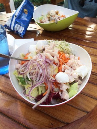 The best salad at Park Cafe, Central Park, Oasis of the Seas.