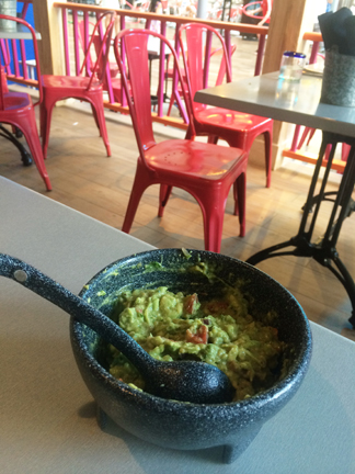 Fresh, homemade table side guacamole at Sabor Mexican Restaurant and Tequila Bar on Oasis of the Seas.