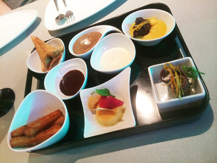 Dessert tray at Sabor Mexican Restaurant and Tequila Bar on Oasis of the Seas.