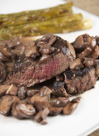 Filet Mignon with Truffled Mushroom Ragout is incredibly delicious, easy to make and completely worthy of a fancy special occasion dinner!