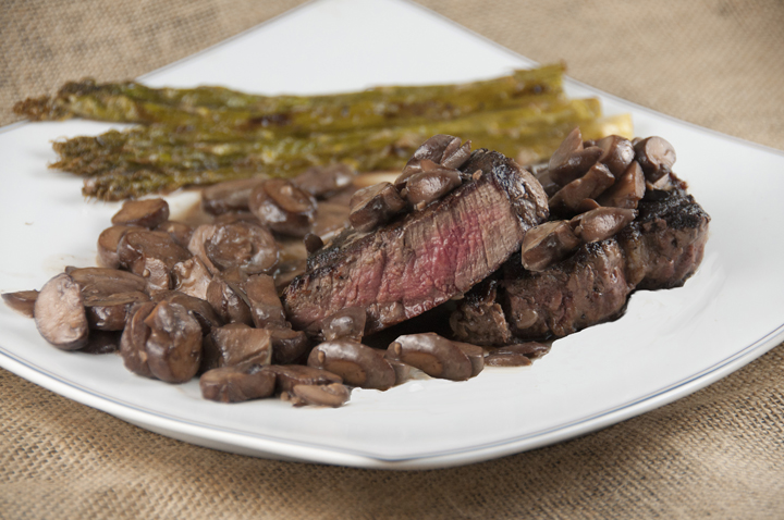 Easy Filet Mignon with Truffled Mushroom Ragout is perfect for date night at home or Valentine's day dinner.