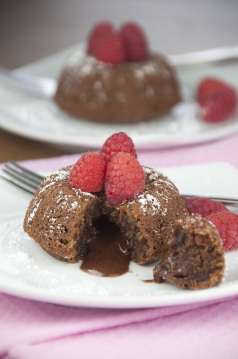 Molten Chocolate Lava Cakes are an easy dessert that looks like you spent all day. They are rich and creamy in the center and perfect for Valentine's Day!