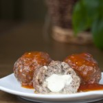 Mozzarella Stuffed Italian Meatballs