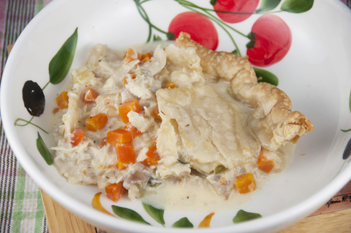 My Favorite Chicken or Turkey Pot Pie will soon become your favorite, as well.  Easy, delicious comfort food that is exactly what pot pie should taste like!