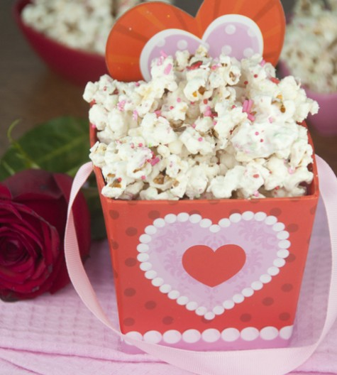 Sugar Cookie Popcorn is the perfect Valentine's Day dessert, party favor or gift straight from your kitchen to someone you love.