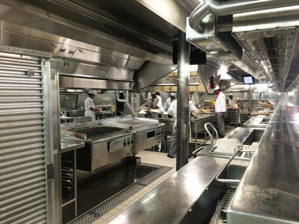 Behind the scenes tour of the Opus Kitchen on Oasis of the Seas.