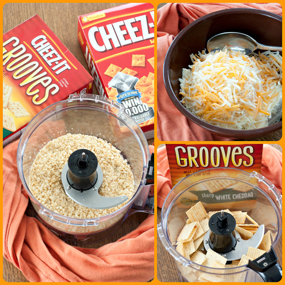 The steps in making Cheez-It Jalapeno Popper Dip.