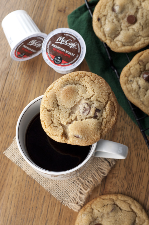Coffee Chocolate Chunk Cookies are loaded with chocolate and a touch of brewed coffee in the dough to give them that unique flavor twist that adults and kids will both love.