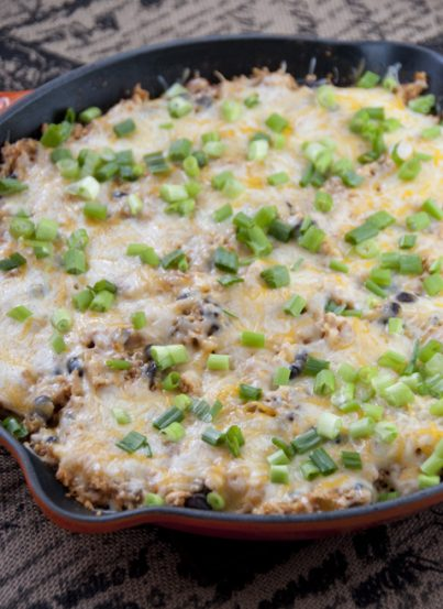 This Southwest Chicken skillet is all made in one pan which makes for a quick and easy weeknight dinner with minimum effort and clean up required! Try it for your next Mexican food night.