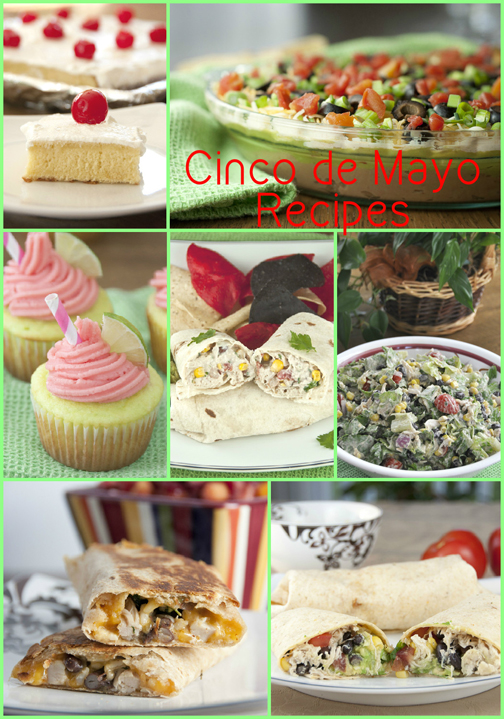 Cinco de Mayo Recipes for Mexican food appetizers, dinner, and desserts.