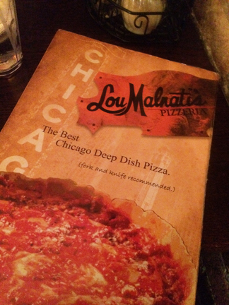 Lou Malnati's Pizzeria review of deep dish pizza in Chicago