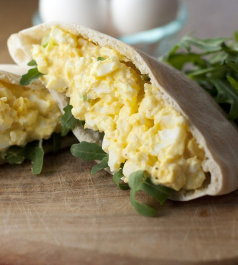 This creamy, classic egg salad recipe can be served on crunchy lettuce, your favorite bread, or in a pita for a quick and easy lunch.