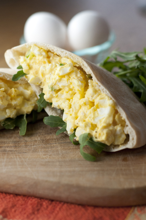 This creamy old-fashioned egg salad recipe can be served on crunchy lettuce, toasted bread, or in a pita for a quick and easy lunch idea. This is a great way to use up leftover hard-boiled eggs after Easter!