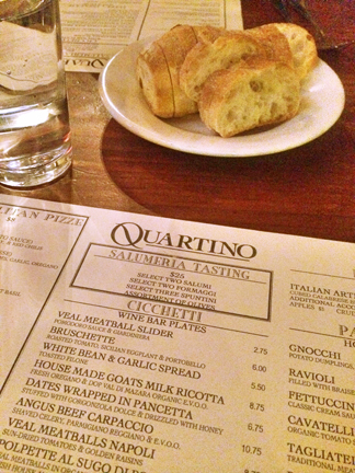 Quartino Italian Restaurant in downtown Chicago