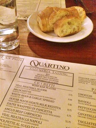Quartino Italian Restaurant in downtown Chicago