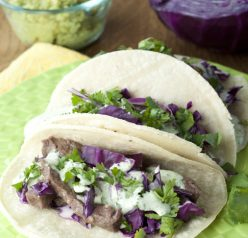 This is a great recipe for authentic Mexican Santa Monica Street Tacos. These are made with steak and are served on soft corn tortillas. Perfect for any Cinco de Mayo Celebrations!