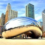 "Picture of ""the Bean"" in Millennium Park, Downtown Chicago."