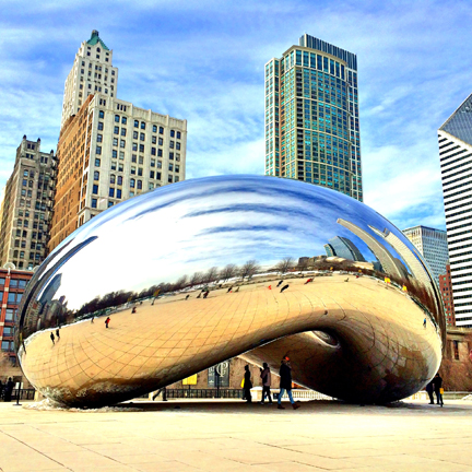 "Picture of ""the Bean"" in Millennium Park, Downtown Chicago. I recently went on a work trip with my husband to Chicago and we ate our way through the city. Here are my reviews for Where to Eat and What to do in Chicago: some must-try restaurants and spots to visit while there!"