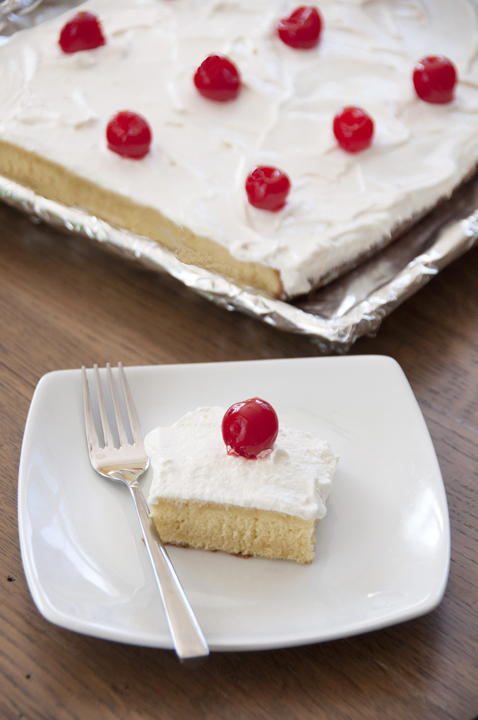This light and fluffy Tres Leches Cake dessert recipe is perfect for Cinco de Mayo, uses three types of milk and is topped with whipped cream icing, making it so moist and delicious.