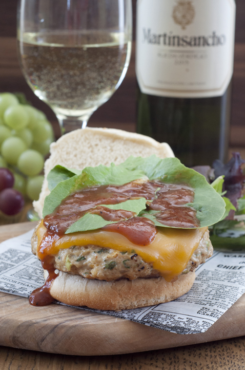 Cheddar and Spinach Pesto Chicken Burgers are a unique burger for summer grilling and a fun twist on the traditional barbeque fare.