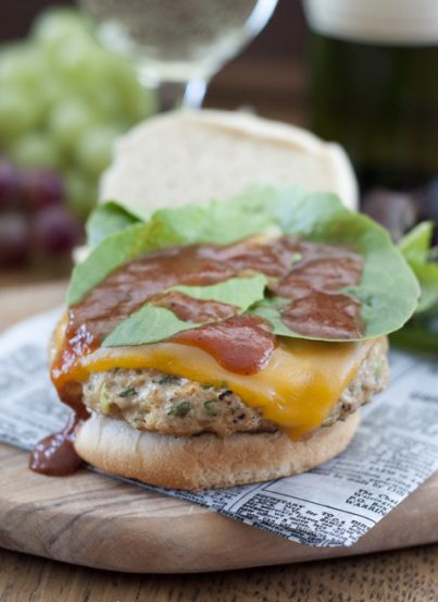Cheese and Spinach Pesto Ground Chicken Burgers that are a healthy recipe for summer grilling!