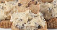 This is the ultimate cookie cup recipe: thick chocolate chip cookies baked in a cupcake tin with rich, egg-free chocolate chip cookie dough frosting mounded on top.