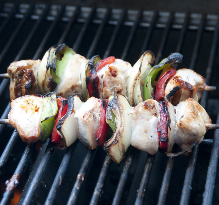 Grilled Honey Chicken Kabobs that don't dry out on the grill, but stay moist and flavorful. These kabobs are simple to make for a BBQ or picnic and delicious to eat.