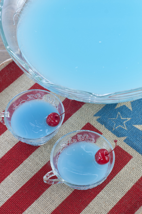 Simple, tasty Blue Piña Colada Party Punch recipe that is non-alcoholic and perfect for fourth of July, a baby shower, or Disney mermaid birthday parties!