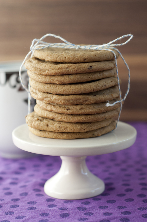 Soft brown sugar coffee cookies are crispy on the outside and chewy on the inside.  Coffee lovers will love this dessert recipe!