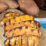 Grilled Sweet Potatoes with Cherry Glaze