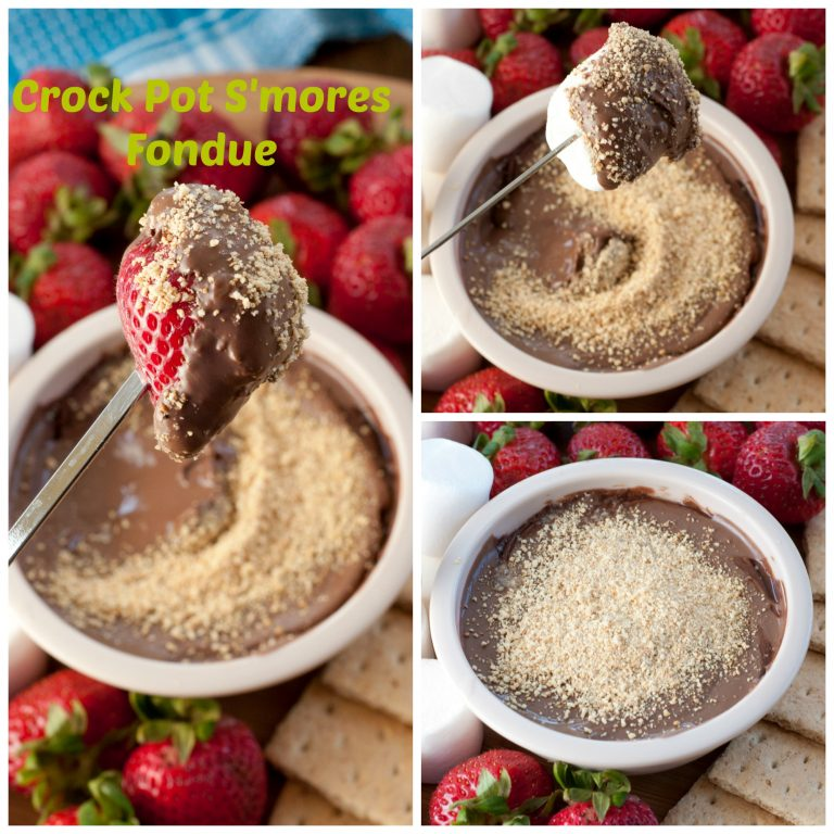 Crock Pot S'mores Fondue is the perfect dessert dip for a party. This recipe is easy to make and perfect for all the s'mores lovers in your life!