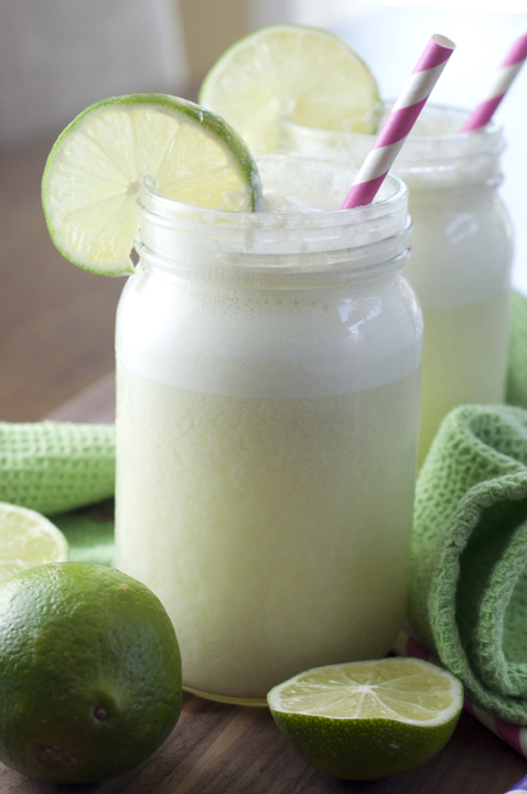 Blender Limeade recipe, or Brazilian Swiss Lemonade, takes is easy to make and kids will love this to cool down in the heat!