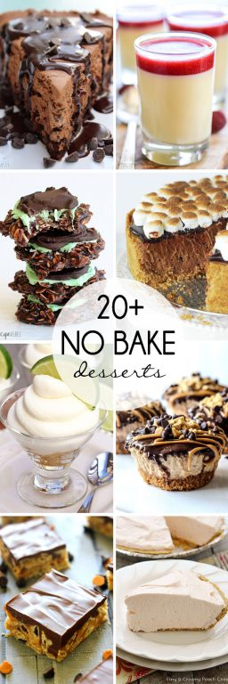 20+ No Bake Desserts to keep your house cool in the summer.
