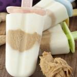 Peanut Butter Honey Greek Yogurt Pops