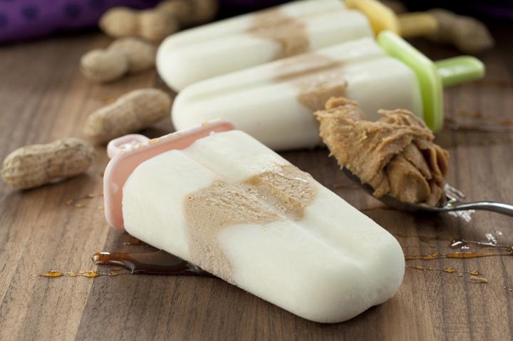 Healthy Peanut Butter Honey Greek Yogurt Pops are an easy summer recipe for breakfast, snack, or dessert.