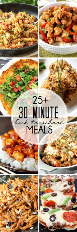 More than 25 30 Minute Back to School Meals meals that can be prepared in 30 minutes or less and are perfect for busy weeknights! They are all family-friendly recipes.