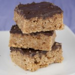 No Bake Chocolate Scotcheroos made with Rice Krispies Treats and melted butterscotch. Best dessert recipe!