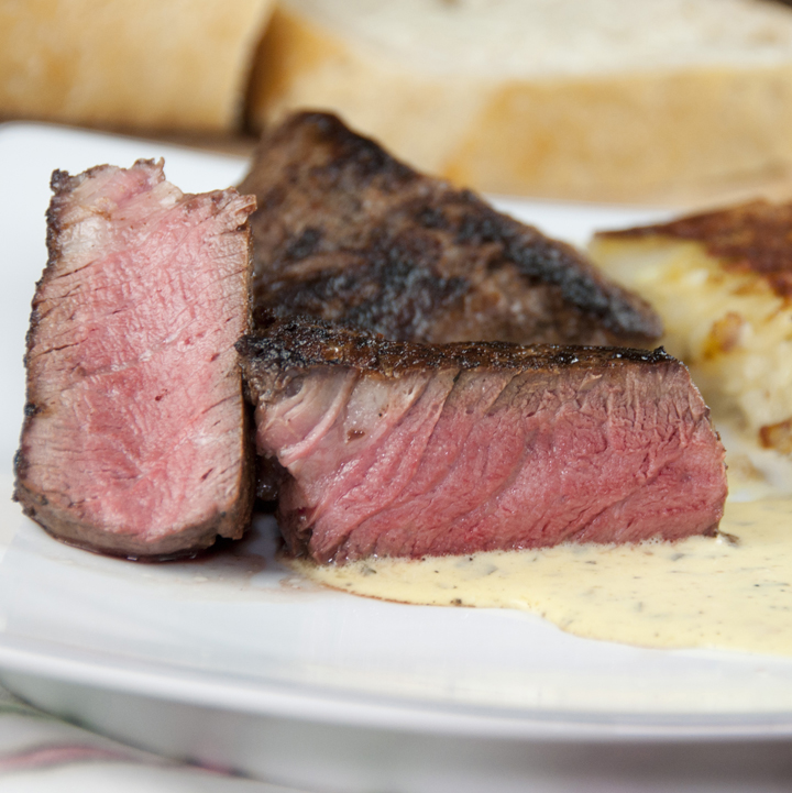 Perfect Filet Mignon with Blender Bearnaise Sauce for two is great, simple recipe for a special occasion dinner and is sure to impress!