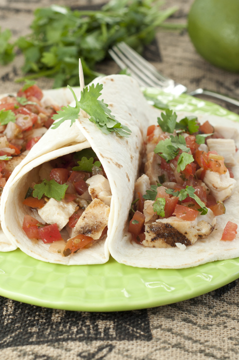 Citrus marinated Grilled Chicken Fresco Soft Tacos recipe topped with a spoonful of Pico de Gallo are light, healthy and the perfect weeknight dinner.