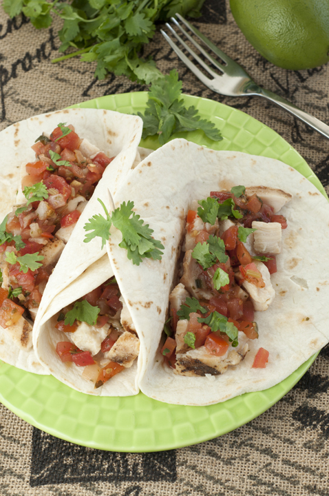 Easy, healthy Citrus marinated Grilled Chicken Fresco Soft Tacos recipe with homemade Pico de Gallo for a light weekday meal your whole family will love.