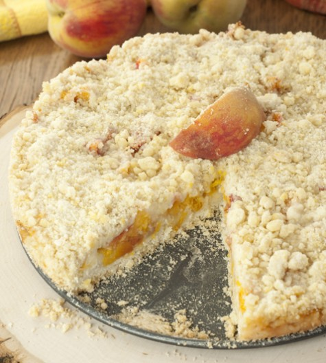 Italian Fresh Peach Crumb Cake recipe is a quick, crowd-pleasing dessert with typically on-hand ingredients. It's a great way to use up those fresh peaches!